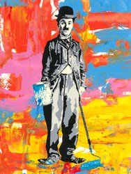 Chaplin by Mr Brainwash - Original on Paper sized 22x30 inches. Available from Whitewall Galleries